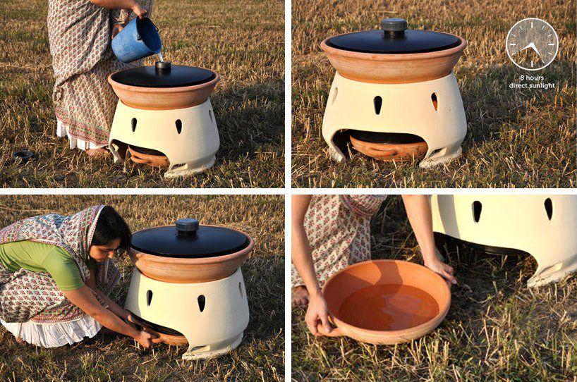 eliodomestico diseño social Eliodomestico: el horno solar que purifica el agua salada%disenosocial