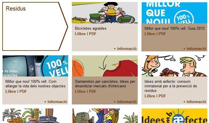 Interesante conjunto de publicaciones en catalán del Àrea Metropolitana de Barcelona reciclaje reparación compostaje regalos no materiales >> Compartir no sólo es solidaridad, también es Innovación Económica%disenosocial
