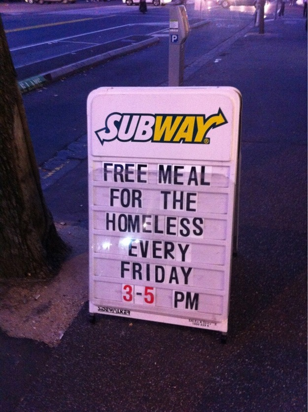 This sign at an awesome Subway restaurant