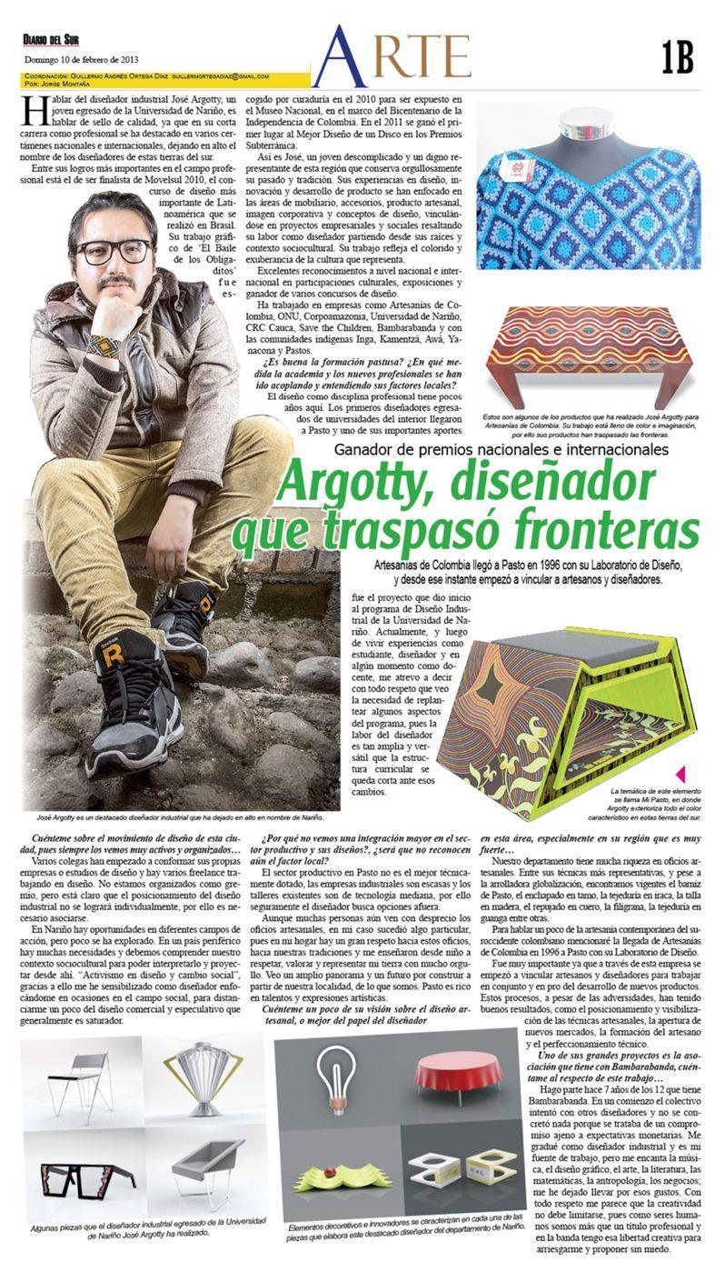 Diseñador que traspazo fronteras b >> Entrevista al diseñador social Jóse Argotty%disenosocial