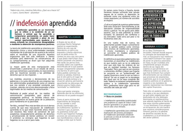 indefension aprendida libro socialdesign Indefensión Aprendida: ¿por qué no reaccionamos ante la injusticia?