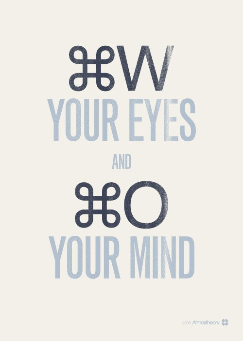 CLOSE YOUR EYES AND OPEN YOUR MIND