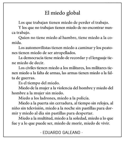 miedo global
